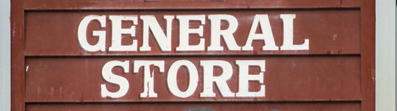 Old fashioned business sign. Stock Photography