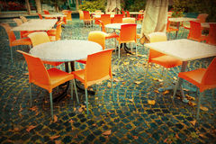 Old-fashioned Cafe terrace Royalty Free Stock Image