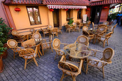 Old fashioned cafe terrace Royalty Free Stock Photo
