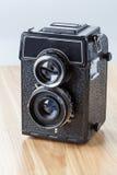 Old-fashioned camera, closeup Royalty Free Stock Photos