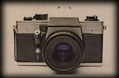 Old fashioned camera textured Stock Photography