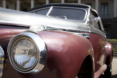 Old-fashioned car. Point of view at old-fashioned car Royalty Free Stock Image
