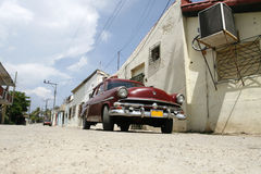Old fashioned car. An old-fashioned car in a village outside of havana Royalty Free Stock Photography