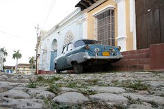 Old fashioned car. An old car  in Trinidad traditional village at Cuba Stock Images