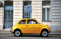 Old fashioned car in the street of Budapest Royalty Free Stock Photos