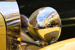 Old fashioned car on the street of Prague. Stock Image