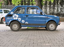 Old fashioned car in the street of Sofia Royalty Free Stock Photography
