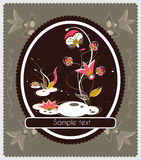 Old-fashioned card with mushrooms Royalty Free Stock Photo