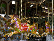 An old fashioned carousel stock image