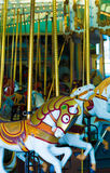 Old-fashioned carousel horses Royalty Free Stock Photos