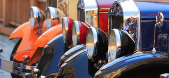 Old fashioned cars. stock image