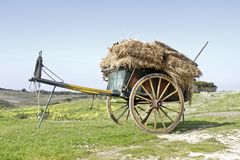 Old fashioned cart in Portugal Royalty Free Stock Images