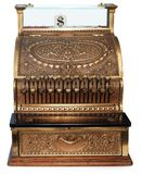Old Fashioned Cash Register Orthographic Stock Photo