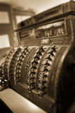 Old Fashioned Cash Register Still Doing Business Royalty Free Stock Photography