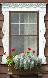 Old-fashioned Chalet Window Stock Image