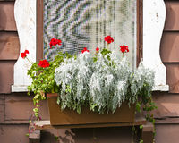 Old-fashioned Chalet Window royalty free stock photography
