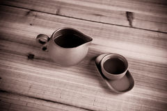 Old fashioned Chinese tea cups Stock Images