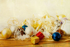 Old fashioned christmas decoration. Old fashioned antique christmas decoration Royalty Free Stock Images