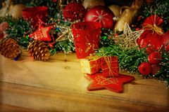 Old fashioned christmas decoration. Old fashioned antique christmas decoration Stock Photo