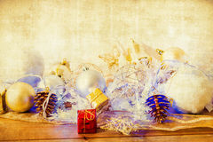 Old fashioned christmas decoration Royalty Free Stock Photography
