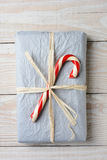 Old Fashioned Christmas Gift Royalty Free Stock Photography