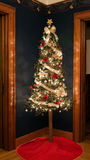 Old Fashioned Christmas Tree Corner Stock Photos