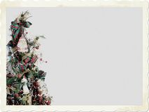 Old Fashioned Christmas. An Old Fashioned Christmas Tree Snapshot with Room for your Text Stock Photography