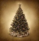 Old Fashioned Christmas Tree Stock Photo