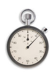 Old fashioned chronometer. Old fashioned chronometer isolated on white, clipping path Royalty Free Stock Photo