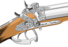 Old fashioned classic style rifle illustration Royalty Free Stock Images