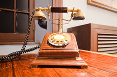 Old-fashioned classic telephone Stock Photography