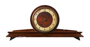 Old-fashioned clock made in USSR. Isolated old-fashioned clock made in USSR Royalty Free Stock Photo