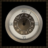 Old fashioned clock with roman numerals. Stock Photos