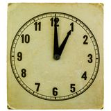 Old fashioned clock showing one oclock Royalty Free Stock Image