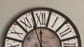 Old fashioned clock, timelapse. Close up stock footage