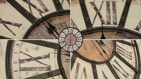 Old fashioned clock on the wall,timelapse. Old fashioned clock on the wall, timelapse 12H - composition stock video