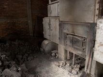 An old fashioned coal fired oven in Darjeeling, India. Which is used to dry the tea leaves Stock Images
