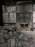 An old fashioned coal fired oven in Darjeeling, India. Which is used to dry the tea leaves Stock Photography