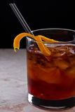 Old fashioned cocktail Stock Image