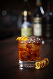 Old Fashioned cocktail. On a bardesk Stock Photo