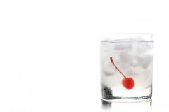 Old fashioned cocktail. With cherry Royalty Free Stock Photography