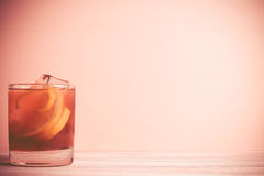 Old fashioned cocktail Stock Photos