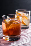 Old fashioned cocktails Stock Image
