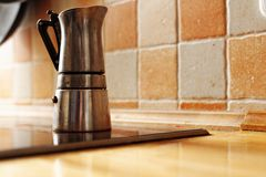 Old fashioned coffee maker Stock Photo