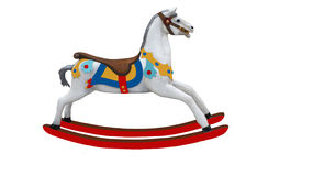 Old Fashioned Colorful Rocking Horse Stock Photos