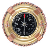 Old-fashioned Compass On White Royalty Free Stock Images
