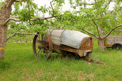 An old-fashioned contraption used by pioneer farmers in northern canada Stock Photo