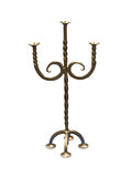 Old-fashioned copper elegant candlestick Royalty Free Stock Image