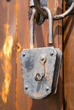 Old fashioned corroded metal padlock Royalty Free Stock Photography