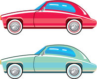 Old Fashioned Coupe Car. Vector eps Royalty Free Stock Photos